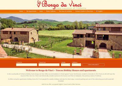 Borgo da Vinci in Tuscany (Italy)